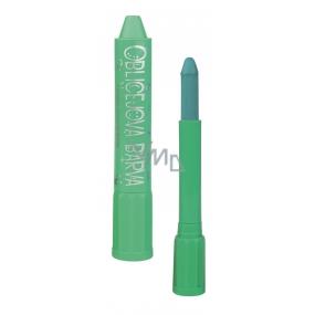 Amos Face Deco Barva na obličej a tělo v tubě zelená se rtěnkovým uzávěrem 4,7 g