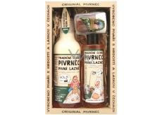 Bohemia Gifts & Cosmetics Pivrnec se světlou Koupelovou pěnou 500 ml + Sprchový gel 250 ml + Toaletní mýdlo 70 g, kosmetická sada