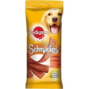 Pedigree Schmackos hovězí pochoutka pro psy doplňková strava 5 kusů 43 g