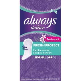 Always Dailies Fresh & Protect Fresh Scent Normal s jemnou vůní slipové intimní vložky 30 kusů