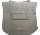 Hugo Boss Messenger Bag batoh - taška šedá velká 39 x 37 x 16 cm