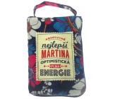 Albi Skládací taška na zip do kabelky se jménem Martina 42 x 41 x 11 cm