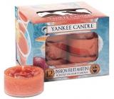 Yankee Candle Passion Fruit Martini - Tropický koktejl s Martini vonná čajová svíčka 12 x 9,8 g