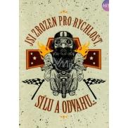 Albi Hrací přání do obálky Motorkářské, Born to Be Wild 15 x 21 cm