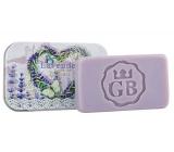 Bohemia Gifts Ručně vyráběné toaletní mýdlo s glycerinem v plechové krabičce Srdce - Levandule 80 g