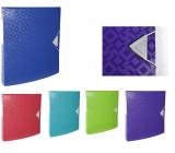 Exacompta Offix Kroužkový pořadač, hřbet 3 cm, A4 PP, 1 kus, mix 5 barev