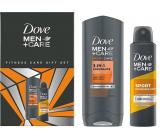 Dove Men + Care Fitness Sportcare 3v1 Endurance sprchový gel 250 ml + Sport antiperspirant sprej 150 ml, kosmetická sada pro muže
