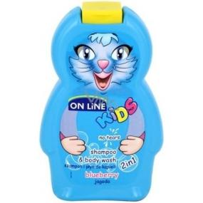 On Line Borůvka 2v1 sprchový gel a šampon na vlasy pro děti 250 ml