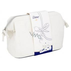 Dove Original sprchový gel + tělové mléko + kuličkový deodorant + krémová tableta na mytí + šampon, Etue, kosmetická sada