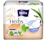 Bella Herbs Plantago Sensitive intimní vložky s křidélky 12 kusů