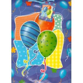 Nekupto Dárková papírová taška velká 32,5 x 26 x 13 cm Balonky 1 kus 845 40 BL