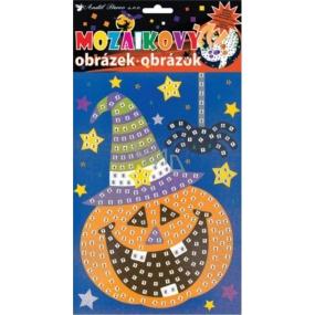 Mozaikový hrací set Halloween dýně 23 x 16 cm