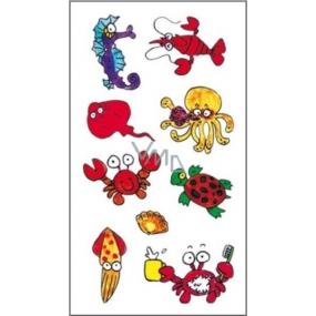Tetování barevné mořský koník 16,5 x 10,5 cm