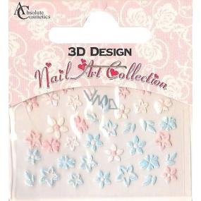 Absolute Cosmetics Nail Art 3D nálepky na nehty 24917 1 aršík