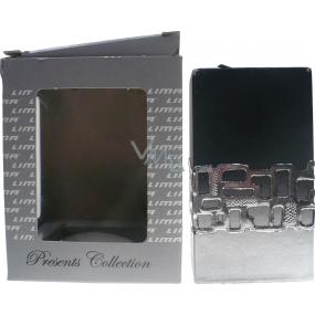 Lima Ambiente svíčka černá hranol 65 x 120 mm 1 kus oloupané rohy
