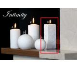 Lima Mramor Intimity vonná svíčka bílá hranol 45 x 120 mm 1 kus