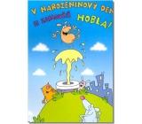 Albi Hrací přání do obálky K narozeninám Narozeninový den si zaslouží Zejtra mám Ready Kirken 14,8 x 21 cm