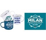 Albi Plechový hrnek se jménem Milan 250 ml