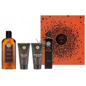 Erbario Toscano Černý pepř parfémovaná voda pro muže 7,5 ml + balzám po holení 30 ml + krém na holení 30 ml + sprchový gel 125 ml, luxusní kosmetická sada
