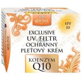 Bione Cosmetics Exclusive & Q10 Koenzym UV Filtr SPF10 ochranný denní pleťový krém pro normální a smíšenou pleť 51 ml