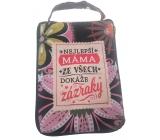 Albi Skládací taška na zip do kabelky s nápisem Máma 42 x 41 x 11 cm