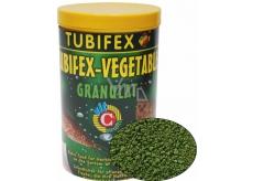 Tubifex Vegetable Granulat základní rostlinné krmivo pro býložravé ryby, které pobývají při dně akvária 125 ml