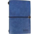 Albi Diář 2020 týdenní luxusní Modrý 17,8 x 12 x 1,5 cm