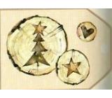 Nekupto Vánoční kartičky na dárky Kmen stromu se stromkem, hvězdou a srdcem 5,5 x 7,5 cm 6 kusů