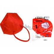 Famex Respirátor ústní ochranný 5-vrstvý FFP2 obličejová maska červená 1 kus