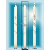 Lima Kostelní křestní - Sv.Přijímání svíčka se zirkony modrá č.4 36 cm 1 kus