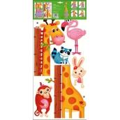 Room Decor Samolepky na zeď strom zvířátka v zoo žirafa 70 x 33 cm 1 arch