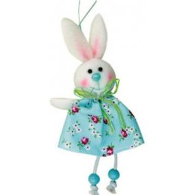 Zajíc modrý v květované sukni 15 cm