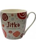 Nekupto Twister hrnek se jménem Jitka červený 0,4 litru 031 1 kus