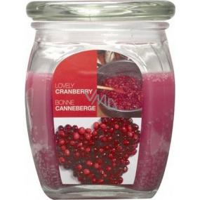 Bolsius Aromatic Lovely Cranberry - Krásná brusinka vonná svíčka ve skle 92 x 120 mm 830 g, doba hoření 100 hodin