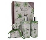 Bohemia Gifts & Cosmetics Botanica Konopný olej sprchový gel 200 + šampon na vlasy 200 ml + toaletní mýdlo 100 g, kniha kosmetická sada