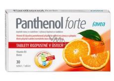 Favea Panthenol forte zmírňuje záněty horních cest dýchacích, regeneruje 30 tablet
