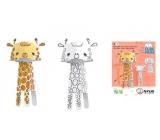Monumi 3D Žirafa v vymalování +/- 29 cm,5+