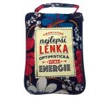Albi Skládací taška na zip do kabelky se jménem Lenka 42 x 41 x 11 cm