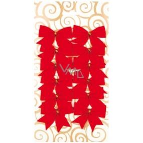 Dekorace mašle červená 5,5 cm 12 kusů