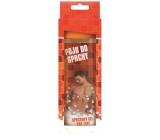 Bohemia Pojď do sprchy jemný sprchový gel s originální 3D etiketou a s hedvábnými proteiny, vodní meloun a hroznové víno pro ženu v krabičce oranžový 300 ml