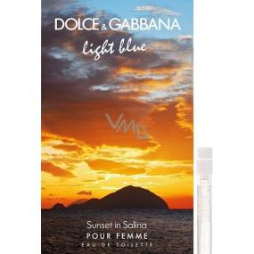 Dolce & Gabbana Light Blue Sunset in Salina toaletní voda pro ženy 2 ml s rozprašovačem, Vialka
