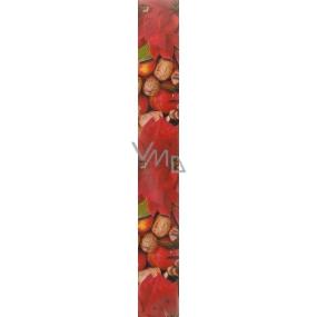Nekupto Vánoční balicí papír červený Šišky 5 x 0,7 m
