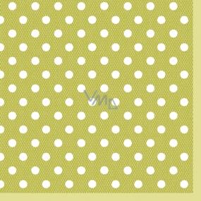 Maki Papírové dezertní ubrousky zelené 3 vrstvé 25 x 25 cm 20 kusů