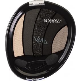 Deborah Milano Perfect Smokey Eye Palette paletka 5ti očních stínů 03 Black Smokey 5 g