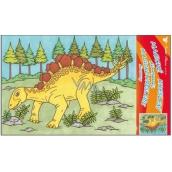 Malování vodou dinosauři č.4 28 x 21 cm