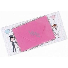 Albi Čokoláda s kapsou na peníze Svatební Humorná 15,4 cm × 7,3 cm × 1 cm 85 g