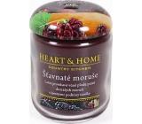 Heart & Home Šťavnaté moruše Sojová vonná svíčka střední hoří až 30 hodin 110 g