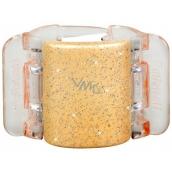 Linziclip Midi Vlasový skřipec perleťově béžový se třpytkami 3,5 cm vhodný pro středně husté a husté vlasy 1 kus