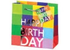 BSB Dárková papírová taška velká 36 x 26 x 14 cm Happy Birthday LDT 290-A4