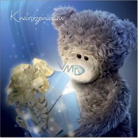Me to You Přání do obálky 3D Medvídek otevírající dárek 15,7 cm × 15,7 cm